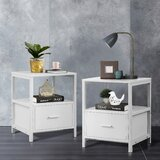 Hixon 1 - Drawer Nightstand (Set of 2) by Red Barrel Studio®
