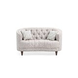 Jordynn Curved Loveseat by Darby Home Co