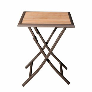 Latitude Run Mcaleer Folding Stand Bistro Table