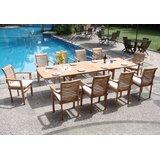 Farnsworth Luxurious 11 Piece Teak Dining Set