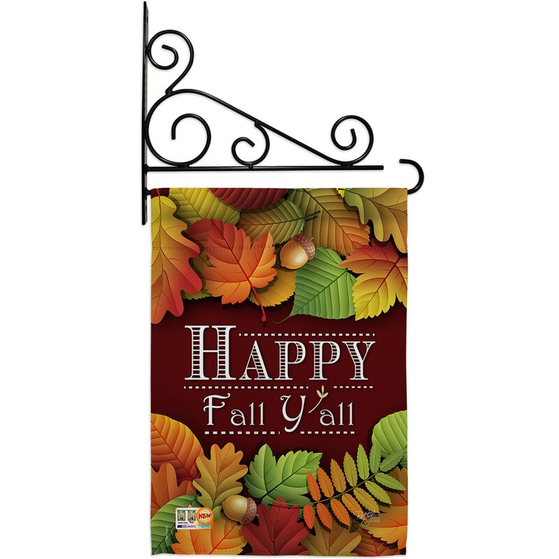 Breeze Decor Happy Fall Y All 2 Sided Polyester 18 5 X 13 In Flag Set Wayfair