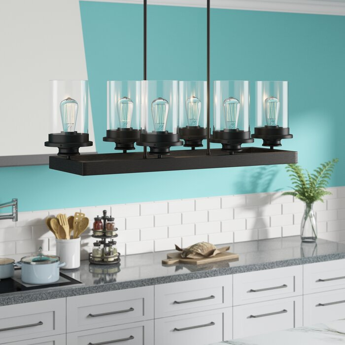 Elanora Square 6-Light Kitchen Island Linear Pendant