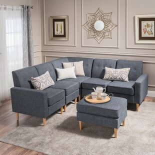 Weisser Mid Century Sectional with Ottoman by George Oliver