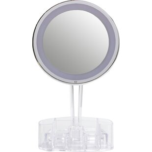 Floxite Magnification Touch Light Mirror with Storage Base
