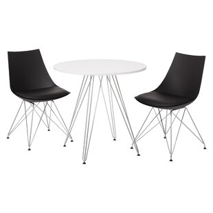 Rabia 3 Piece Dining Set by Orren Ellis Best #1
