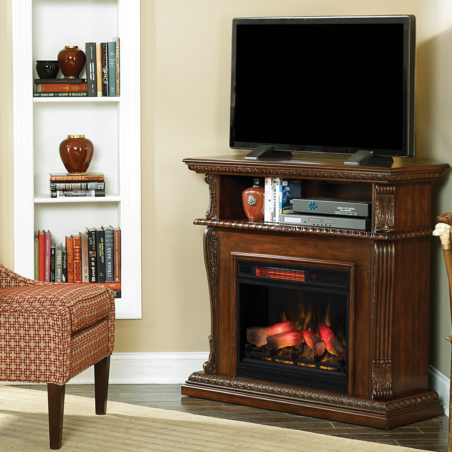 Astoria Grand Entiat Tv Stand For 42 With Electric Fireplace Wayfair