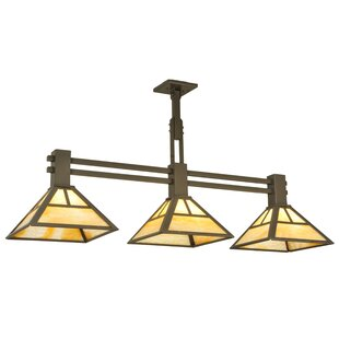 Meyda Tiffany T Mission 3-Light Kitchen Island Pendant