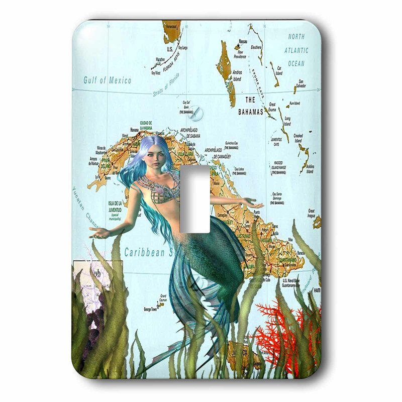 3drose Mermaid And Map 1 Gang Toggle Light Switch Wall Plate Wayfair