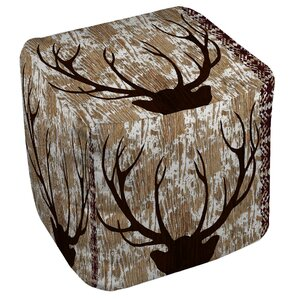 Rustic Deer HornOttoman by East Urban ..