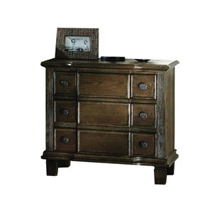 Alcott Hill Hendrix 3 Drawer Nightstand