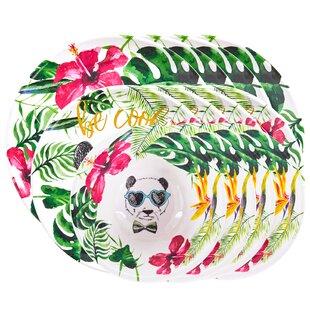 Wivenhoe 8 Piece Melamine Dinner Plate Set By Happy Larry