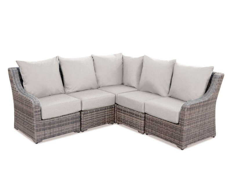Charmant Valentin Sectional Sofa With Cushions