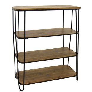Cydnee Metal and Wood 3 Tier Etagere Bookcase Brayden Studio