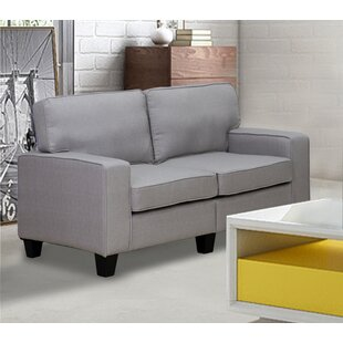 Price comparison Charlee Linen Modern Living Room Loveseat by Winston Porter Reviews (2019) & Buyer's Guide