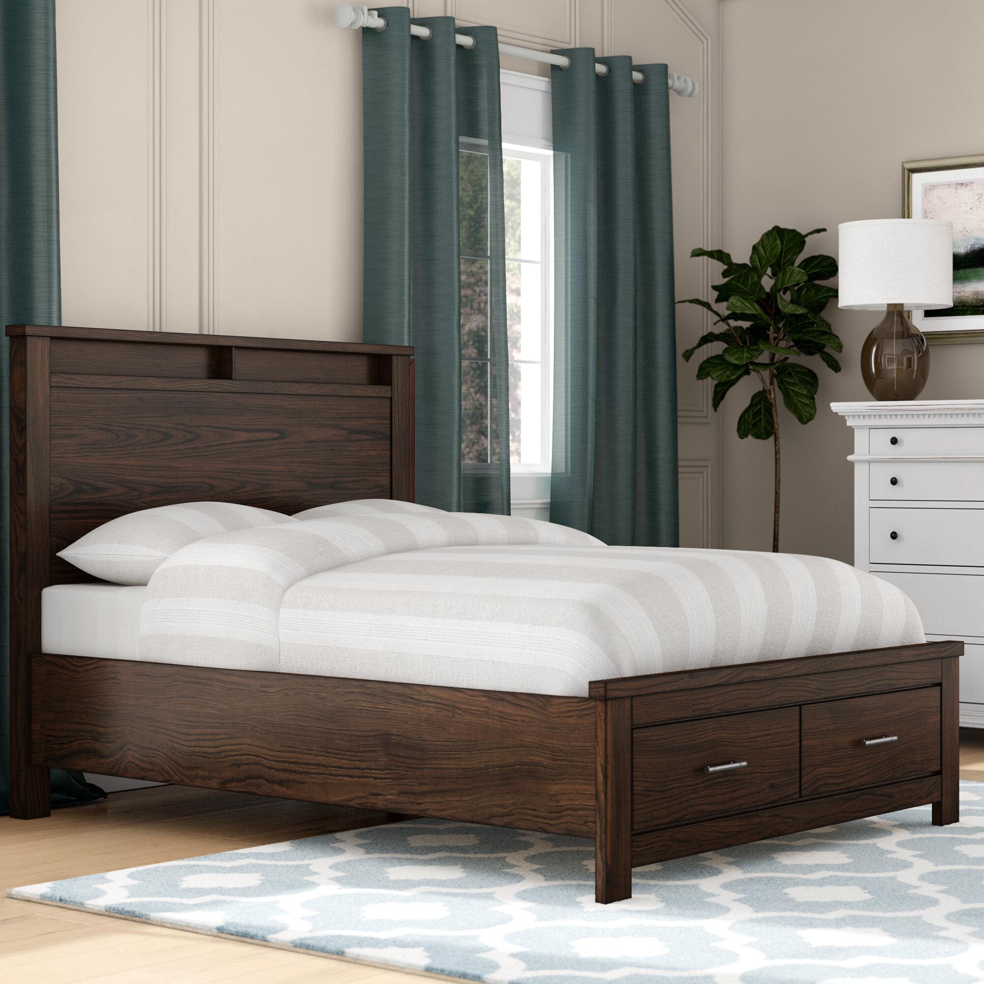 Picture of: Latitude Run Schlesinger Storage Platform Bed Reviews