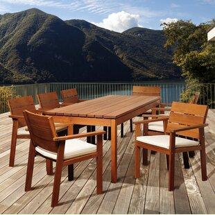 Rosecliff Heights Ashford 9 Piece Rectangular Wood Dining Set