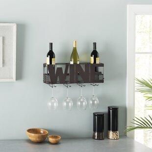 Onika Decorative Metal 5 Bottle Wall Mounted Wine Rack