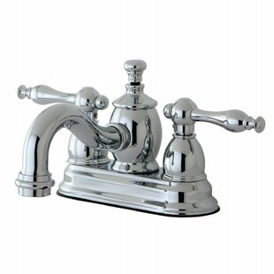Kingston Brass Naples Centerset Bathroom Faucet with Drain Assembly