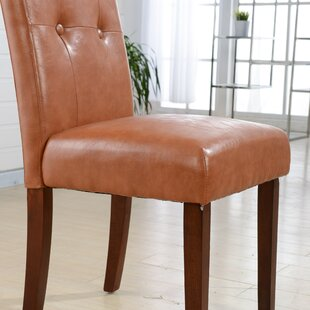 Classic Genuine Leather Upholstered Dining Chair (Set of 2)
