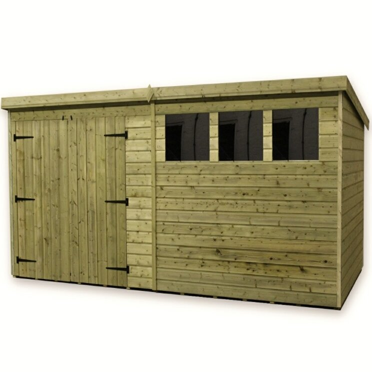 12 x 6 wooden garden shed