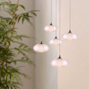 Alvie 5-Light LED Cluster Pendant by Wrought Studio
