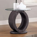 Lodia Glass Top End Table by Williams Import Co.