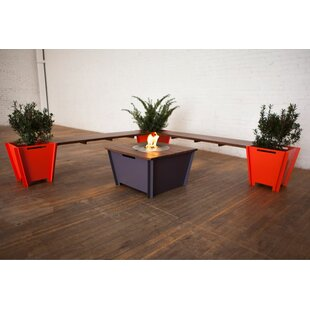 Groovebox Steel Bio-Ethanol Fuel Fire Pit Table