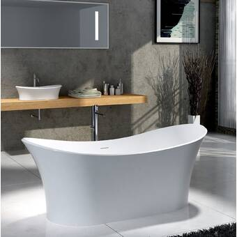 Jacuzzi Karina 65 X 35 Freestanding Soaking Bathtub Wayfair
