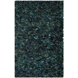 Searching for Messiah Green Shag Area Rug By Bungalow Rose