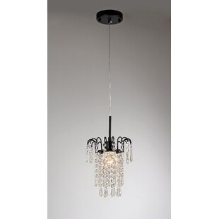 Winters 1-Light Crystal Pendant by House of Hampton