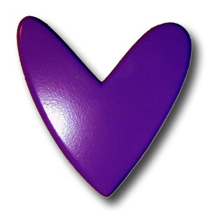 Handpainted Heart Novelty Knob