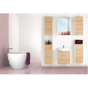 Price comparison Helmore 54 Single Bathroom Vanity Set with Mirror and Cabinet By Ivy Bronx