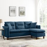 79.53'' Reversible Modular Sofa & Chaise by Latitude Run®