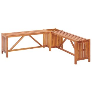 Cuffee Wooden Planter Bench By Sol 72 Outdoor