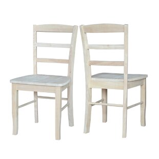 August Grove Brianne Solid Wood Dining Chair (Set of 2)