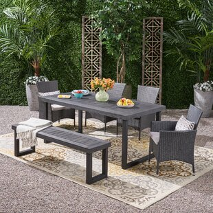 Rhinehart 6 Piece Dining Set with Cushions