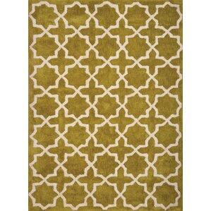 Cranmore Hollis White/Chartreuse Trellis Rug