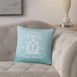 Circee Flower Market Cotton Throw Pillow