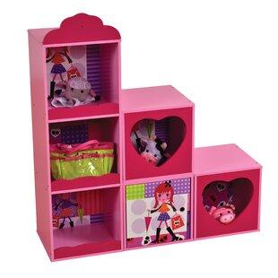 Yasmine Stacked Storage Shelf Book Display By Zoomie Kids