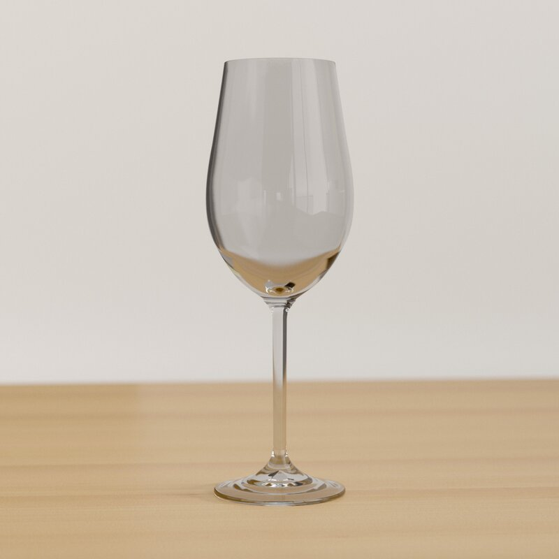 Ebern Designs Sefrou 12 Oz Crystal White Wine Glass Reviews Wayfair