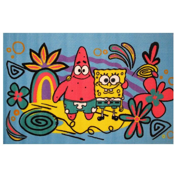 SpongeBob and Patrick Blue Area Rug