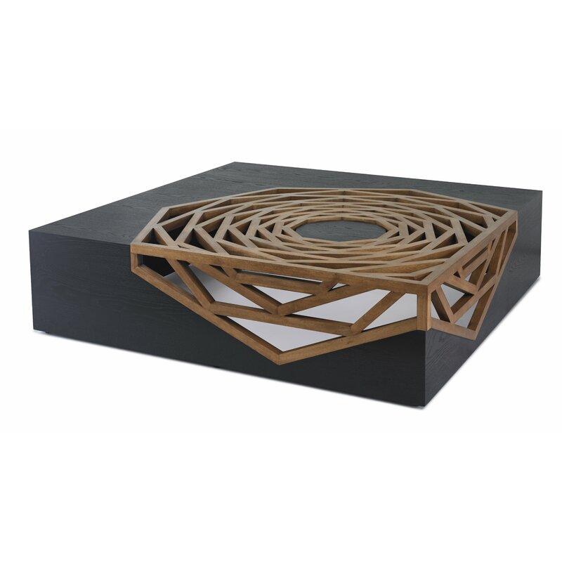 Oggetti Hanako Solid Wood Abstract Coffee Table Reviews Wayfair
