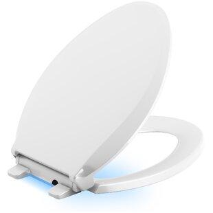 Kohler Cachet Nightlight Quiet-Close with Grip-Tight Elongated-Front Toilet Seat