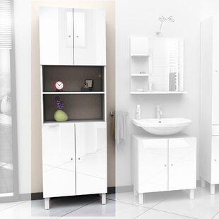 White Gloss Bathroom Cabinet | Wayfair.co.uk