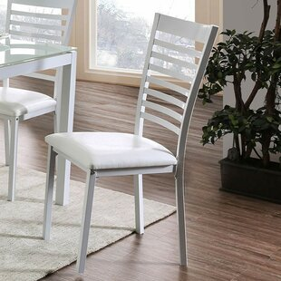 Moon Upholstered Dining Chair (Set of 2) by Ebern Designs
