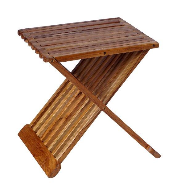 Folding Teak Side Table.Stonecrest Folding Teak Side Table