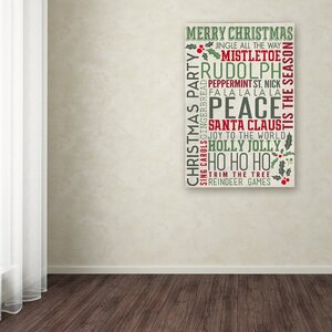 'Christmas 7' Textual Art on Canvas