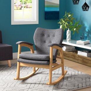 Brayden Studio Saulsberry Fabric Rocking Chair