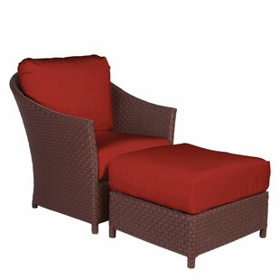 George Town Patio Chair with Cushion and Ottoman by Acacia Home and Garden