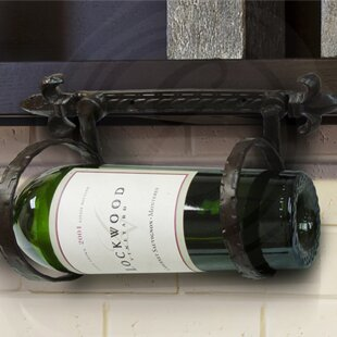 Fleur de Lis 1 Bottle Wall Mounted Wine R..